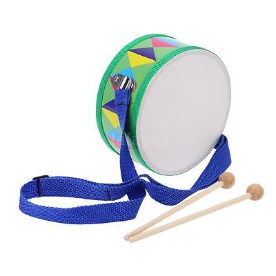 Wooden Plastic Paper Snare Drum Musical Instrument Toy Gift for Kid Child V1Z0