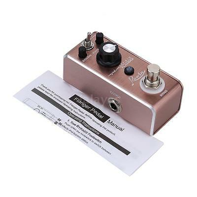 Rowin LEF-612 Flanger Pedal Guitar Effect Pedal True Bypass Brown N3Q9