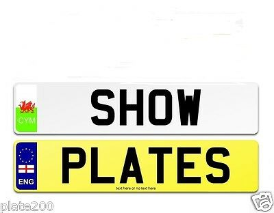 Single Or Pair Of Top Quality Car Number Plate And Show Plate