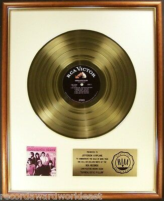 Jefferson Airplane Surrealstic Pillow LP Gold RIAA Record Award RCA To Airplane