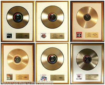 The Beatles 1964 Lot Of 6 LP Gold Non RIAA Record Awards Capitol Records