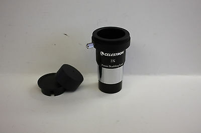 "Celestron 1.25"" 2x Telescope Barlow Lens with T Adapter Astro photo imaging NEW!"