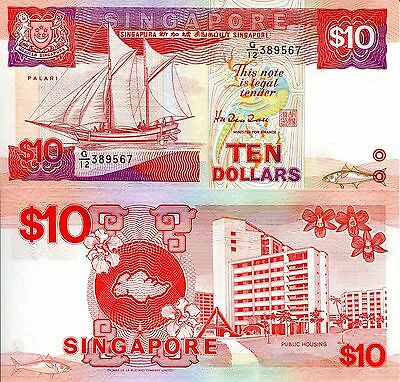 SINGAPORE 2 Dollars Banknote World Paper Money UNC Currency Pick p-20 Ship Note