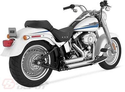 Vance & Hines Exhaust Chrome Shortshots Staggered Harley Softail  17221