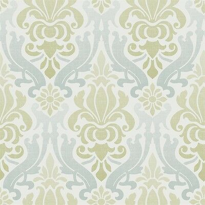 Brewster Home Fashions NU1656 NuWallpaper Blue and Green Nouveau Damask Peel and