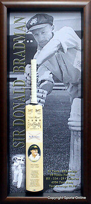 Sir Donald Bradman Personally Signed Bat with Bradman Museum Signature