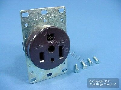New Eagle Commercial Flush Mount Receptacle Outlet NEMA 5-50R 50A 125V 2P3W 1253
