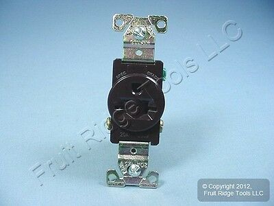 New Cooper Brown INDUSTRIAL Single Receptacle Outlet NEMA 6-20R 20A 250V 5461B