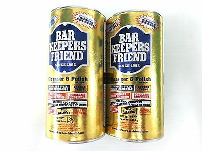 BAR KEEPERS FRIEND 340g TWIN PK CLEANSER & POLISH FOR COOKWARE/KITCHEN/BATHROOM