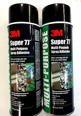3M SUPER77 MULTI-PURPOSE SPRAY ADHESIVE 467G Strongest Adhesive TWIN PACK (2can)