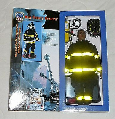 Fire Zone FDNY African American Firefighter Action Figure Doll New York Heroes