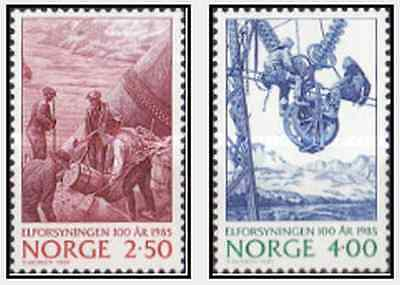 Timbres Norvège 884/5 ** lot 15026