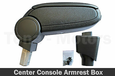 Center Console Box Armrest for Dacia Sandero II 2013+ Black eco Leather Arm Rest