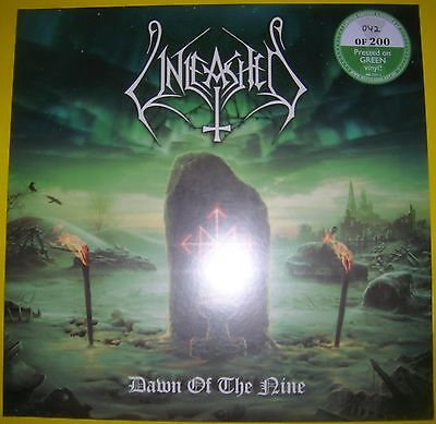 Unleashed - DAWN OF THE NINE limited GREEN VINYL LP album 042/200 MINT SEALED