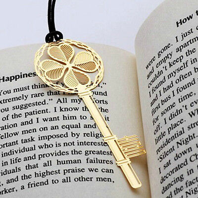 1PC Gold Plated Metal Hollow Four-leaf Clover Reading Bookmark & Wedding Gift