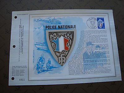 FRANCE - document CEF 1er jour 9/10/1976 (police nationale) (P1) french