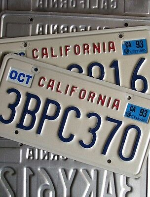 CALIFORNIA embossed state name, several to choose from AMERICAN LICENSE PLATE