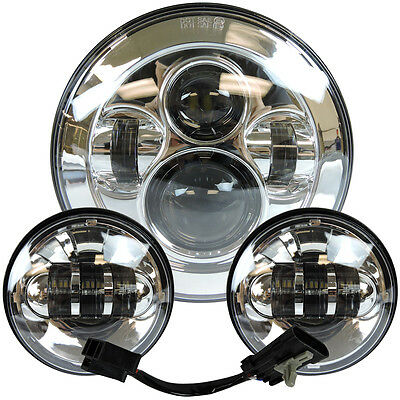 """7"""" Motorcycle LED Projector Daymaker Headlight Passing Light F Harley Tour Glide"""