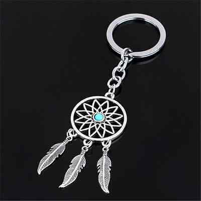 New Dream Catcher Feather Tassels Silver Metal Key Chain Ring Keyring Keychain