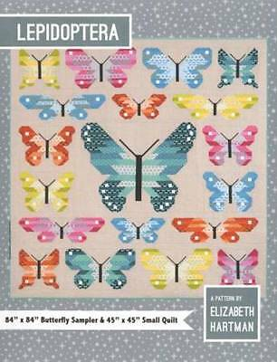 LEPIDOPTERA Pieced Butterfly Sampler Quilt Pattern - Elizabeth Hartman - 2 sizes