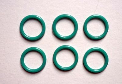 6 Piece Rings for Bra Bikini 11 mm Plastic old petrol 0,20 €/Pieces