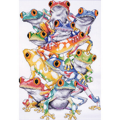 """""""Frog Pile Counted Cross Stitch Kit-11""""""""X16"""""""" 14 Count"""""""