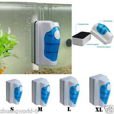 Aquarium Magnetic Brush Fish Tank Glass Algae Scraper Cleaner Floating Curve NEW