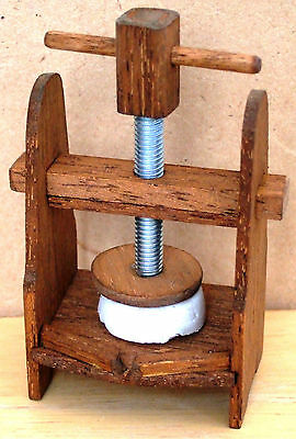 12th scale cheese press
