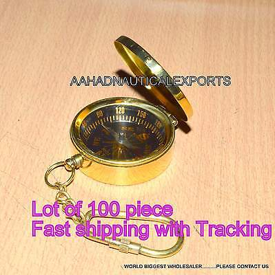 Antique Vintage Style Brass Pocket Compass Brass Campaninig Hiking Compass • CAD $316.21