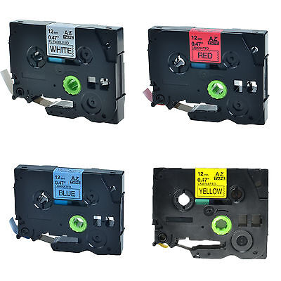 4PK TZe TZ 231 431 531 631 Label Tape For Brother P-Touch PT-310 Printer 12mm