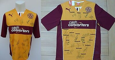 Motherwell Home Shirt Signed by 2015-16 Squad (8868)