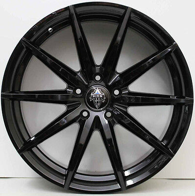 20 inch  HR RACING H758 BLACK WHEELS TO FIT COMMODORE WITH NEW TYRES ON SPECIAL