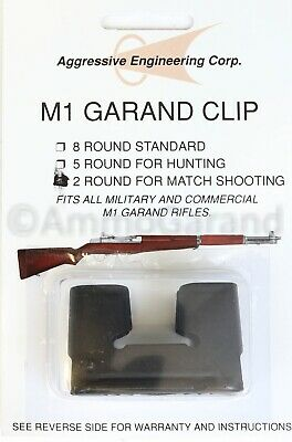 2rd M1 Garand Clip for National Match use New US made AEC 2 Round Clips