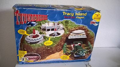 Thunderbirds Tracey Island Electronic Playset 1999 Complete with Vehicles