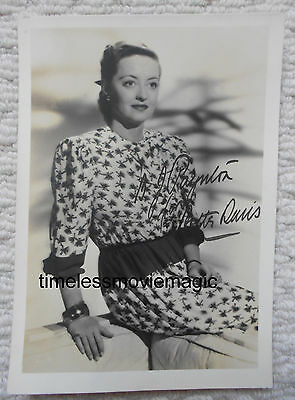 Original Bette Davis Autograph, Dorothy Poynton-Hill collection, USA Olympian,