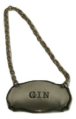 England Silverplated Silver Plated Plate Gin Liquor Collar Bottle 18482