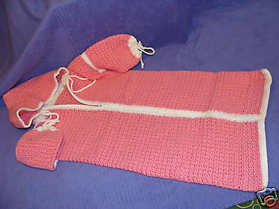 One Of A Kind Crocheted Handcrafted Bunting Bag ~ Av14