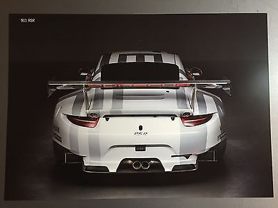 Porsche 911 RSR Coupe Showroom Advertising Sales Poster RARE!! Awesome L@@K