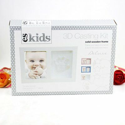 3D Casting Baby Prints Blue Frame | Newborn | Baby Shower | Keepsake