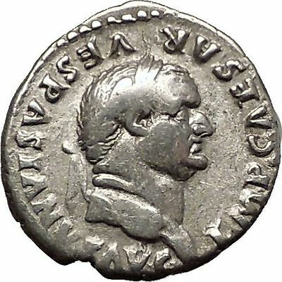 VESPASIAN seated with branch 74AD Rare Ancient Silver Denarius Roman Coin i57517