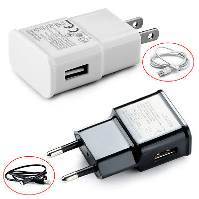 USB AC Power Wall Charger Travel Adapter US Plug With Micro Cable 5V 2A Great