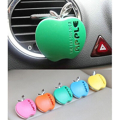 New Apple Shape Car Air Conditioning Vent Perfume Air Freshener Fragrance HUUS