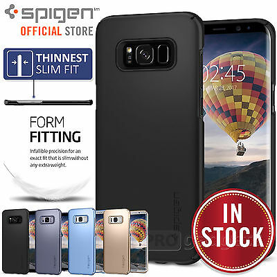 Galaxy S8 / S8 Plus Case, Genuine SPIGEN Ultra Thin Fit Slim Cover for Samsung