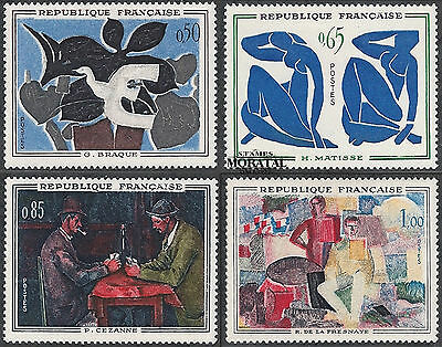 1961 - France Sc# 1014/1017  Mi# 1372/1375  ** MNH Very Nice. Paintings