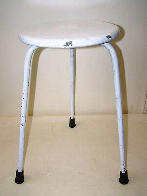 Alter Arzt Stool, Designer Stool Metal Vintage Workshop Stool