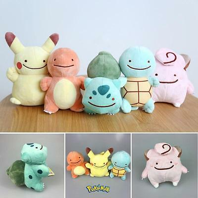 Pokemon Pikachu Charmander Bulbasaur Squirtle Transform Ditto Doll Plush Toys