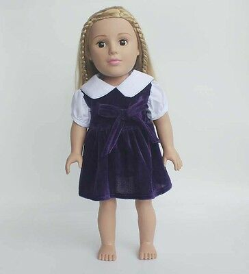 """Fits 18"""" American Girl Doll Clothes Cute Party Dress"""