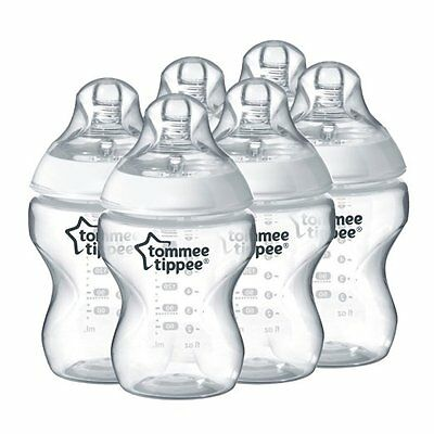 Tommee Tippee 422560 Closer To Nature 260 Ml Easivent Feeding Bottles Pack of 6