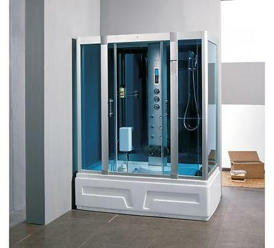Model 9005 Thermostatic Steam Shower Bath Cubicle Glass Screen Enclosure 1600mm
