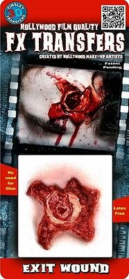 Tinsley Halloween Exit Wound 3D FX Transfer Tattoo